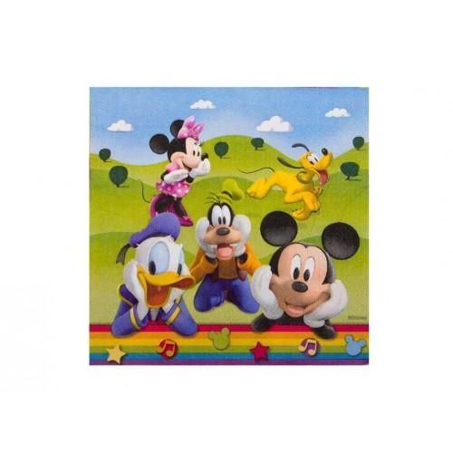 Bolsa 20 Servilletas 33 X 33 Cms Mickey & Friends