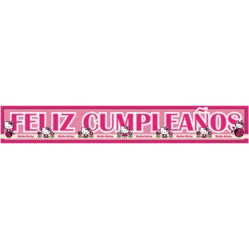 "Letrero ""Feliz Cumpleaños"" Hello Kitty"