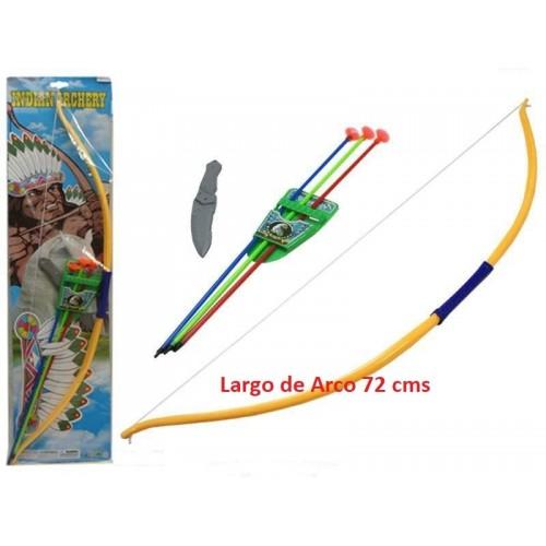 Arco Indio Grande con Puñal y Flechas