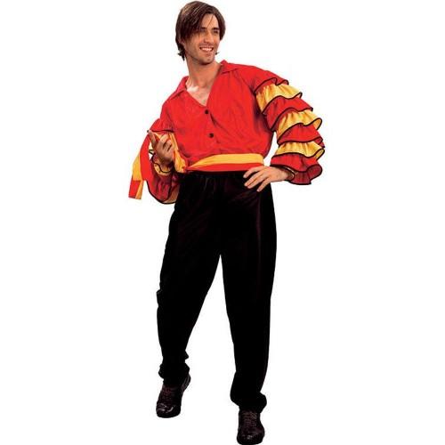 Disfraz Rumbero Rojo Amarillo