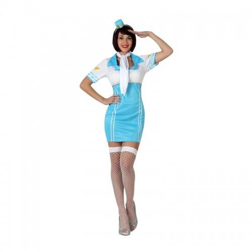 Disfraz Azafata Azul