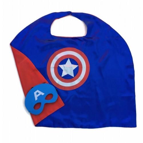 Capa Heroe Americano con Mascara