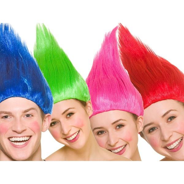 Peluca Troll Colores