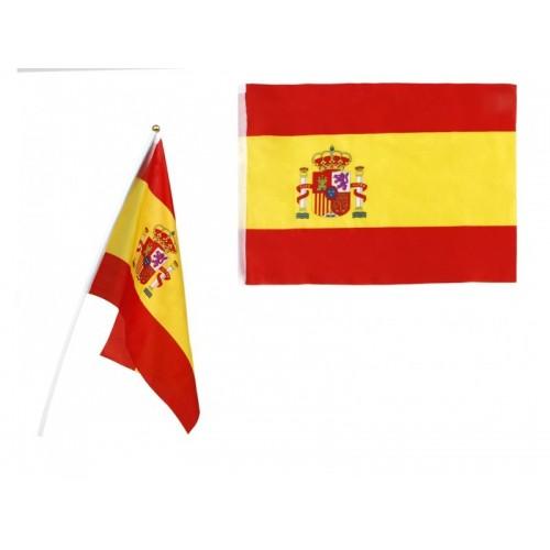 Bandera España tela con palo