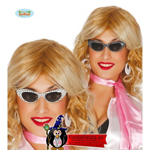 Gafas Pin Up Grease Chica años 50 60