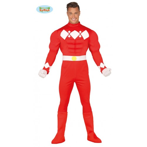 Super Red Hero tipo Power Ranger