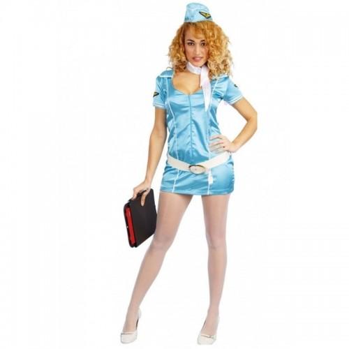 Disfraz Azafata Azul Talla S