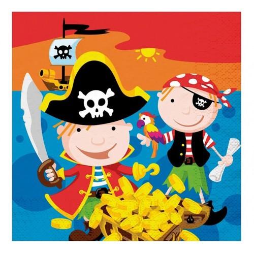 Bolsa 20 Servilletas 33 X 33 Cms Piratas