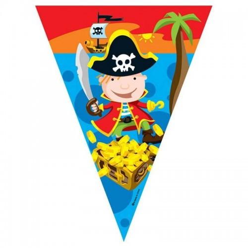 Banderines Piratas de Plastico
