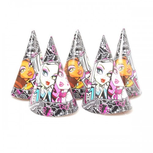 Pack 6 Gorros Monster High Cumpleaños