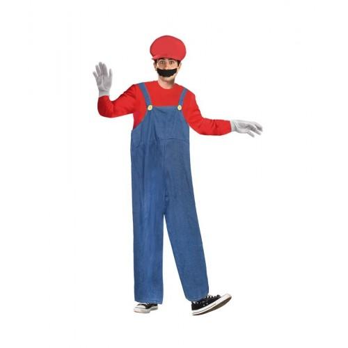 Disfraz Fontanero tipo Super Mario Bros ML