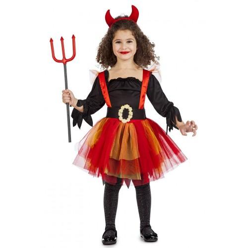 Disfraz Diablesa Tutu niña