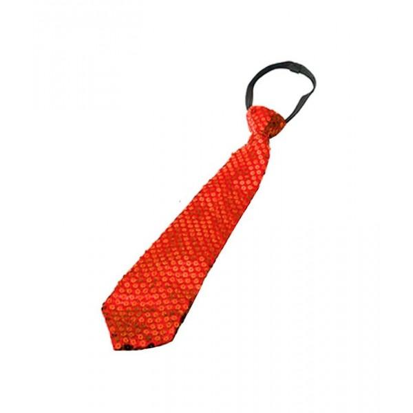 Corbata Roja Lentejuela