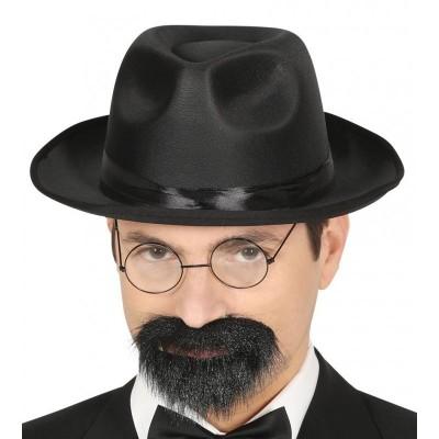 Sombrero Gangster Saten Negro