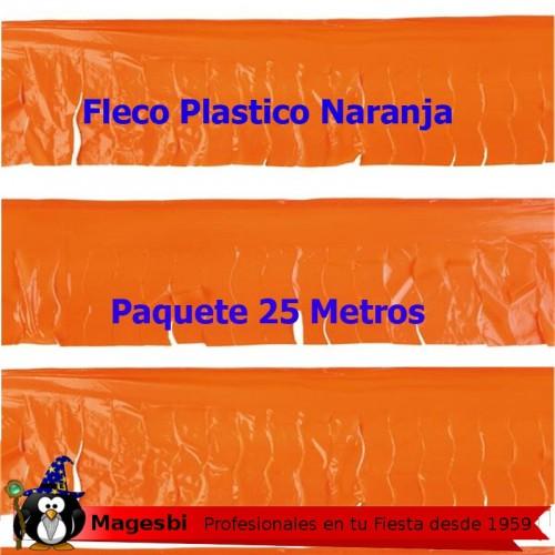 Fleco Plastico Naranja 25m.