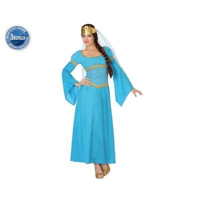 Disfraz Dama Medieval Azul