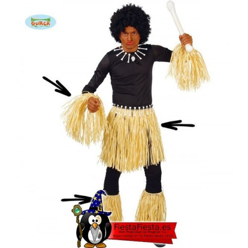 Disfraz tribu Zulu indigena