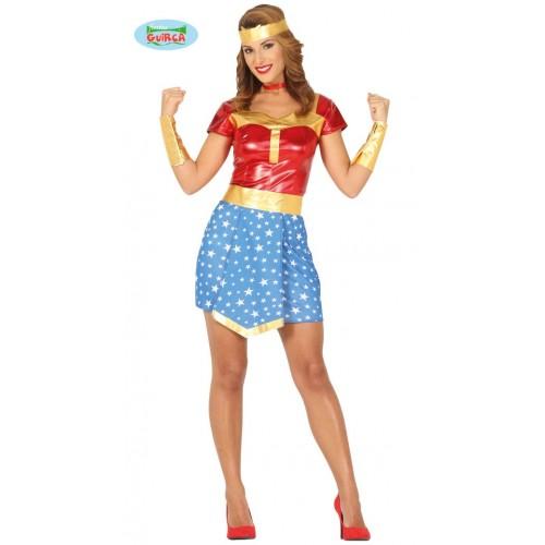 Disfraz Super Wonder Girl Talla L