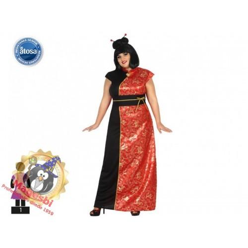 Disfraz de China Roja Talla Grande