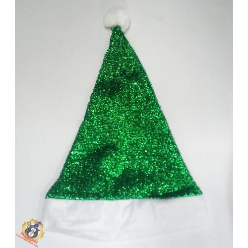 Gorro Elfo Noel Verde Metalizado
