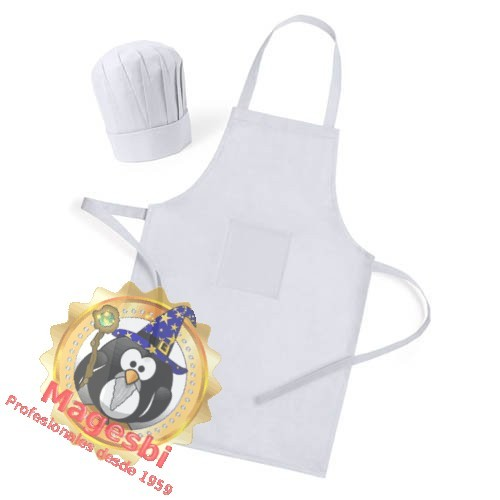 delantal y gorro de cocinero infantil