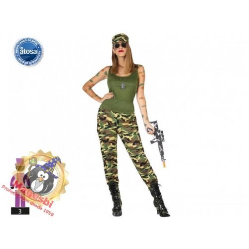Disfraz Militar Soldado Chica