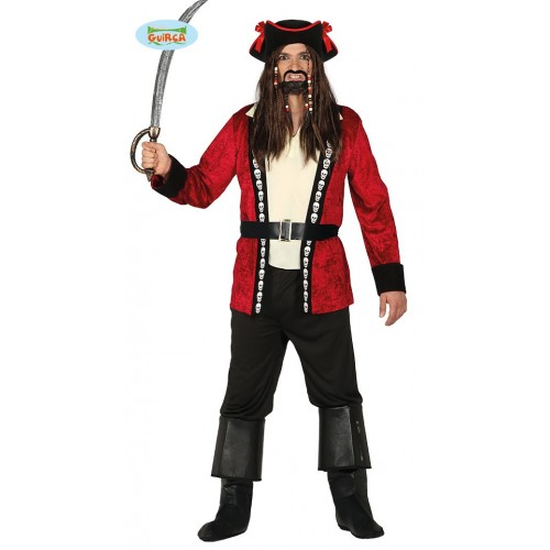 Pirata Rayas Rojo Negro