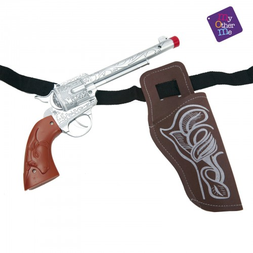 Pistola con Cartuchera vaquero Adulto