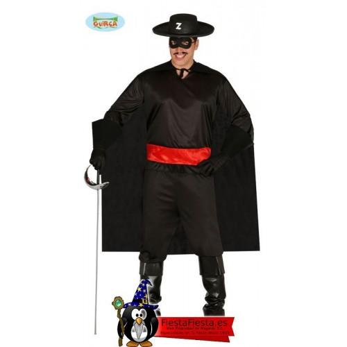Disfraz Zorro Adulto Bandido Super Heroe