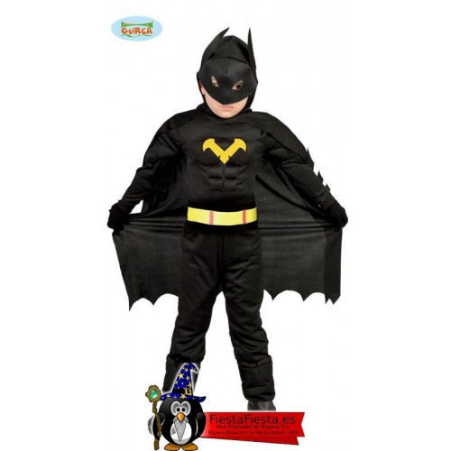 Disfraz Black Hero Batman Musculoso niño