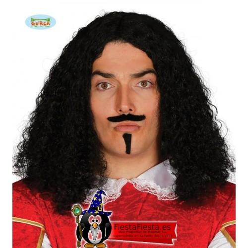 Peluca Mosquetero con bigote