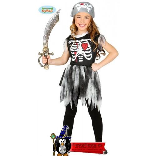 Disfraz Pirata Niña Esqueleto