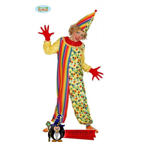 Disfraz Payaso COlorines Clown infantil