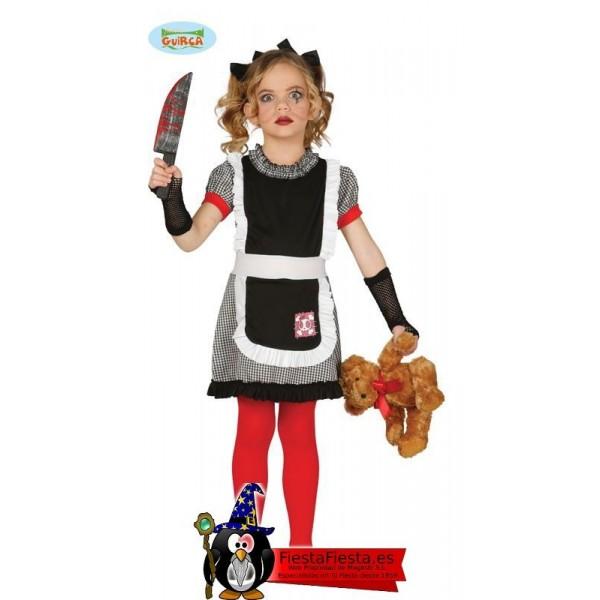 Disfraz Muñeca Gotica Terrorifica niña