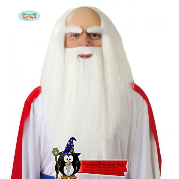 Peluca Barba Druida Mago