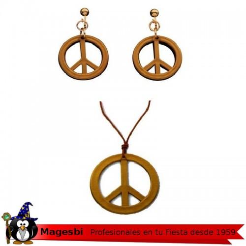 Conjunto Hippie Collar Pendientes