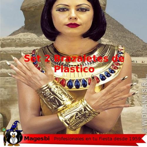 Brazalete Egipcio Plastico 2 Piezas