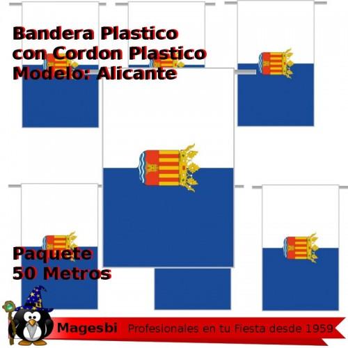 Bandera Plastico Alicante 50m