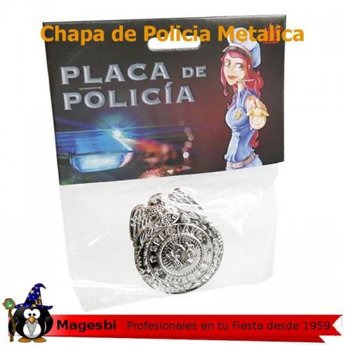 Placa policia Metal