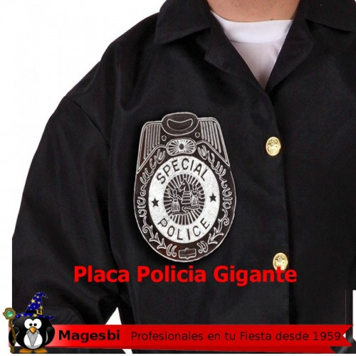 Placa Policia Gigante