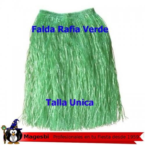 'Falda Hawaiana 60cm Color verde'
