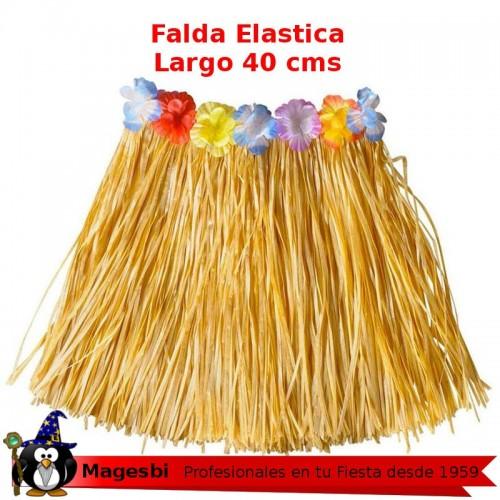 'Falda Hawaiana 40cm Color Paja'