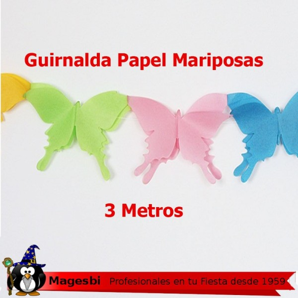 Guirnalda Mariposas 3 Metros