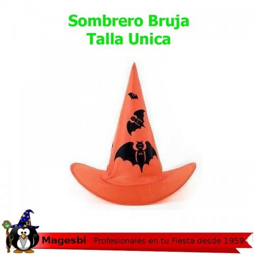 Sombrero Bruja naranja Murcielago